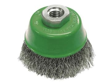 Wire Cup Brush 80mm M14x2, 0.30mm Stainless Steel Wire